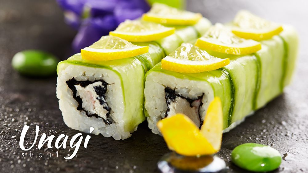 Food from Unagi Sushi