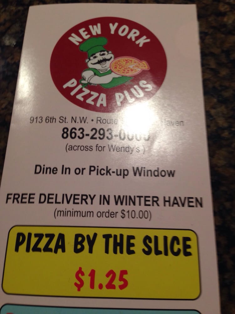New York Pizza Plus: 913 6th St NW, Winter Haven, FL