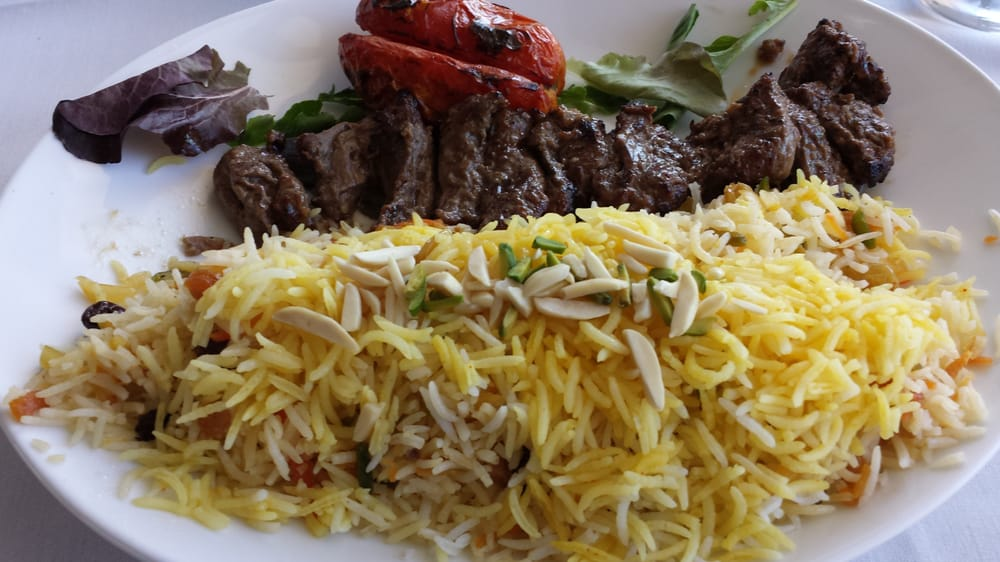 Chenjeh kabob with shirin polo yelp for 1001 nights persian cuisine groupon