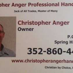 Photo Of Christopher Anger Professional Handyman Spring Hill Fl United States