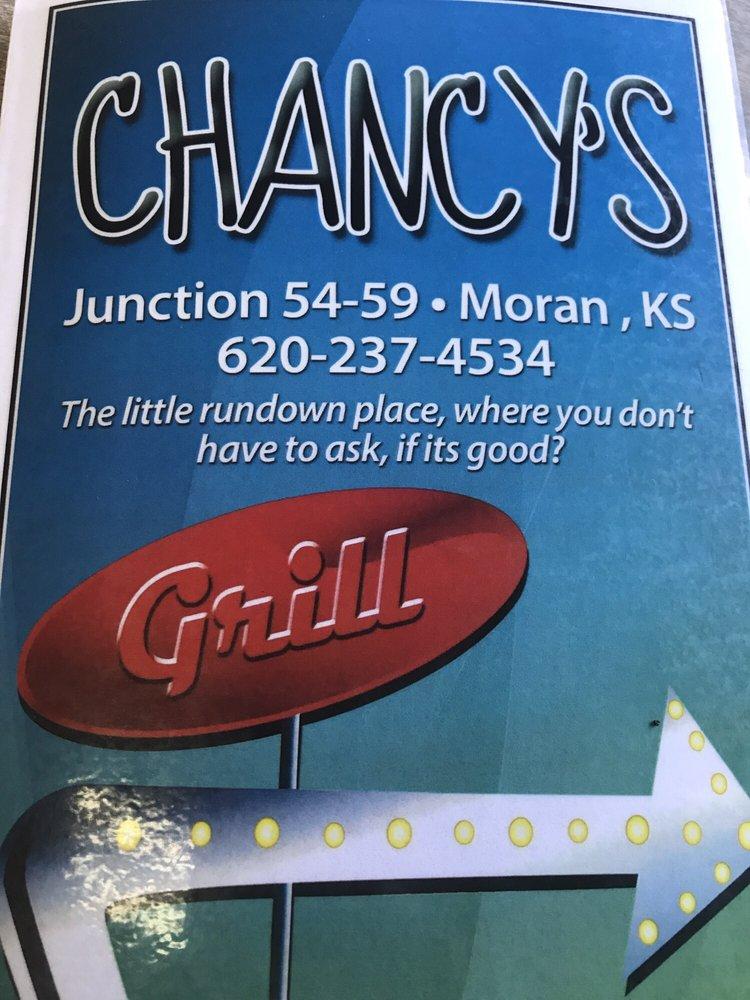 Chancy's Grill & Shake: 811 N Cedar St, Moran, KS
