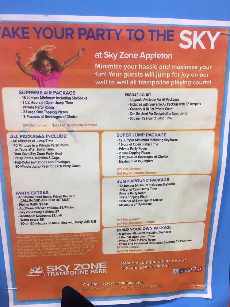 Sky Zone Trampoline Park Trampoline Parks 3169 Van Roy Rd