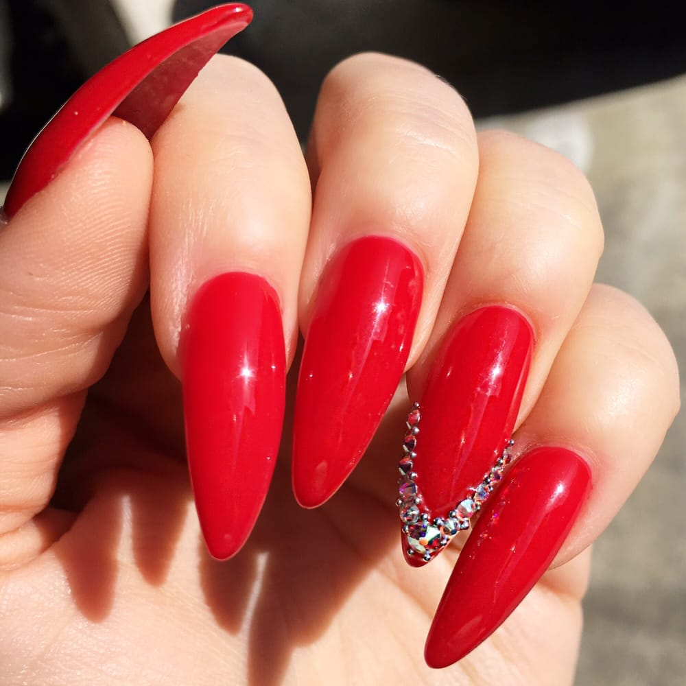 Beautiful long red nails by Kimberly! - Yelp