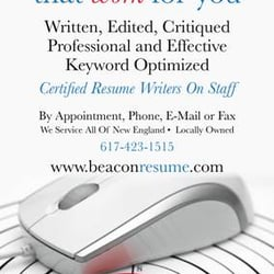 Beacon Hill Back Bay Resume Career Counseling 333 Washington