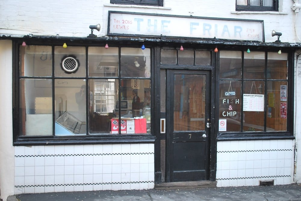 The friar fish chips 7 fisher street lewes east for The fish friar