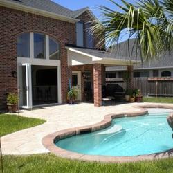 Oleary pools design 24222 kinross ln katy tx for Pool design katy tx