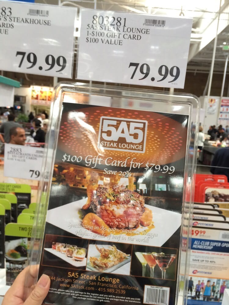 First Time Ive Ever Seen 5a5 Gift Cards Available At Costco