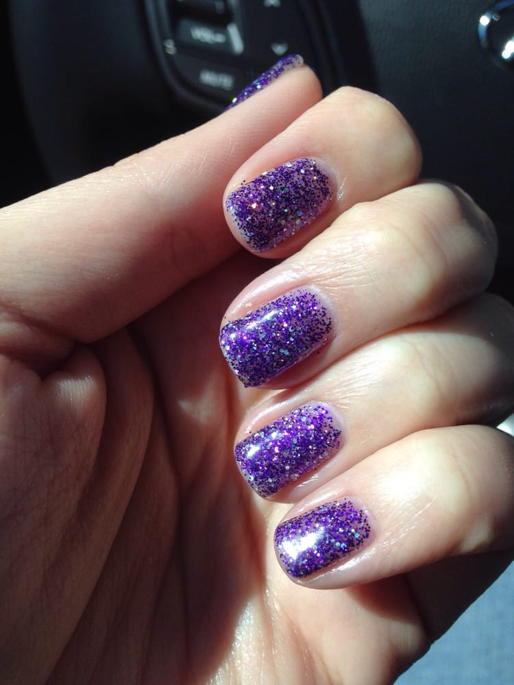Lush lilac star gel manicure. So sparkly. - Yelp
