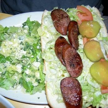 ... of Crescent City - Tustin, CA, United States. andouille sausage po boy