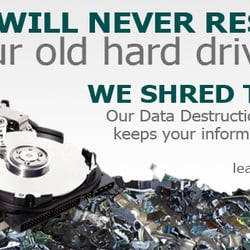 Yelp Reviews for DataShield Corporation - (New) Recycling Center