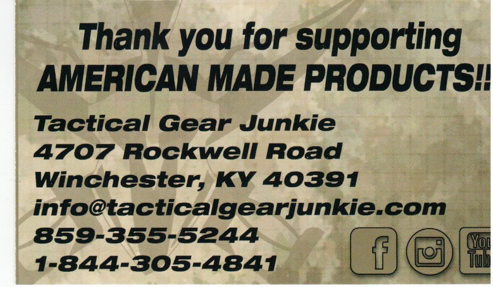 Tactical Gear Junkie: 4707 Rockwell Rd, Winchester, KY