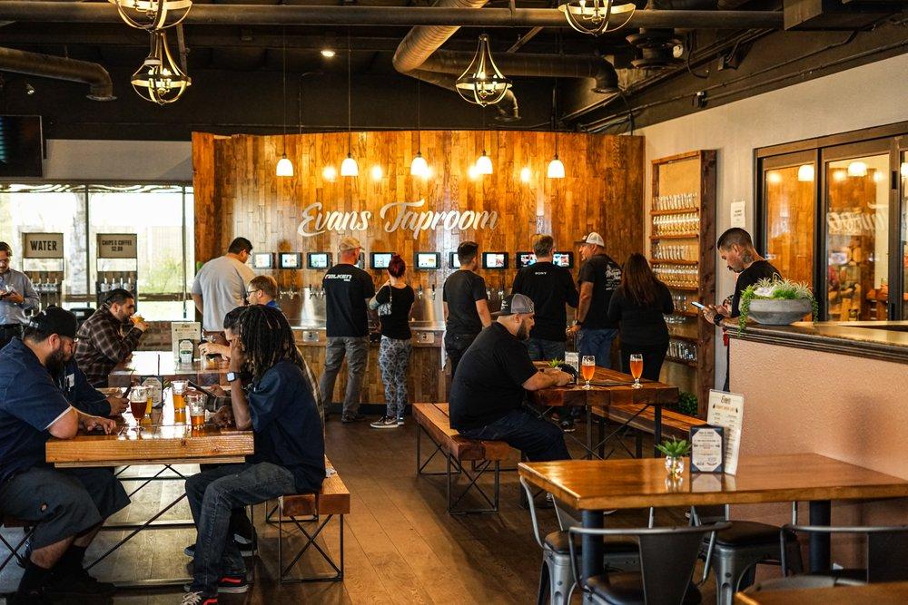 Evans Brewing: 2440 Railroad St, Corona, CA