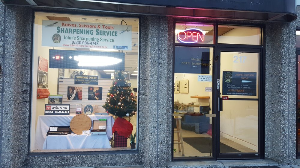 John's Sharpening Service and Cutlery: 217 E Ogden Ave, Westmont, IL