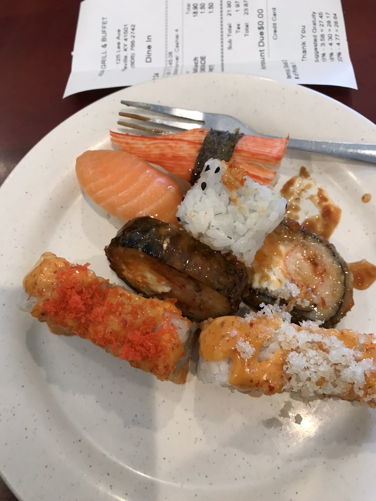 Food from Asian Grill and Buffet