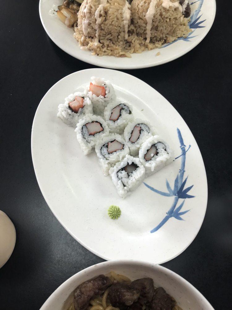 Food from Boun's Hibachi