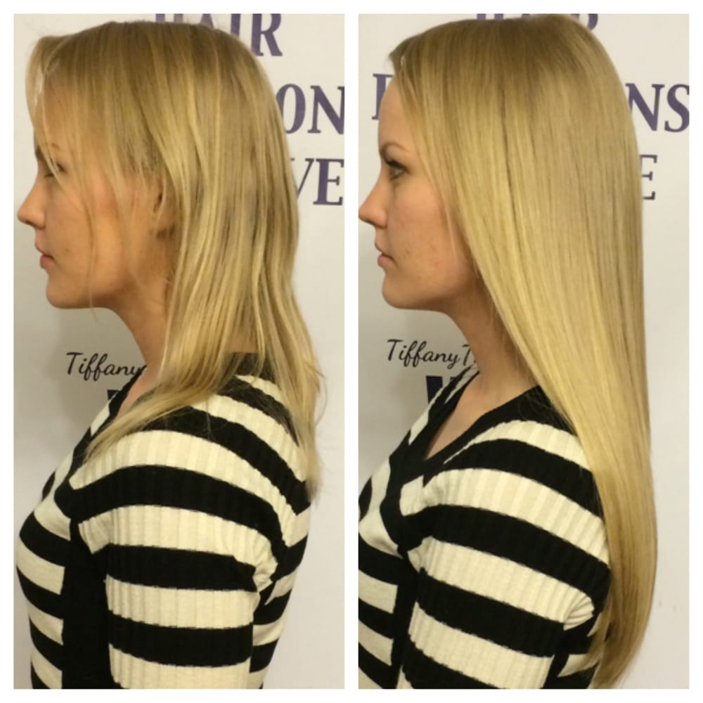 Before After Hair Extensions By Stephanie At West Coast Hair Yelp