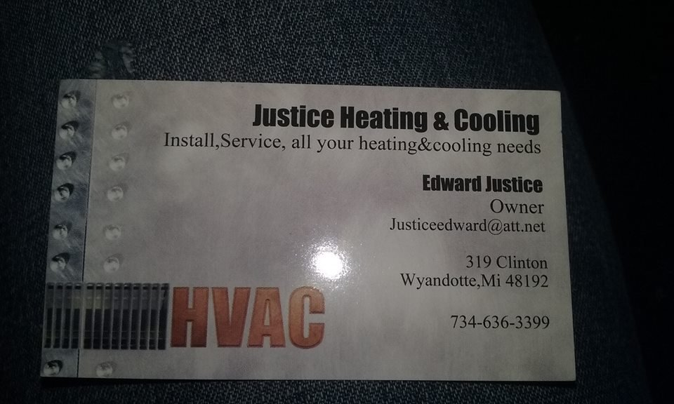 Justice Heating & Cooling: 319 Clinton St, Wyandotte, MI