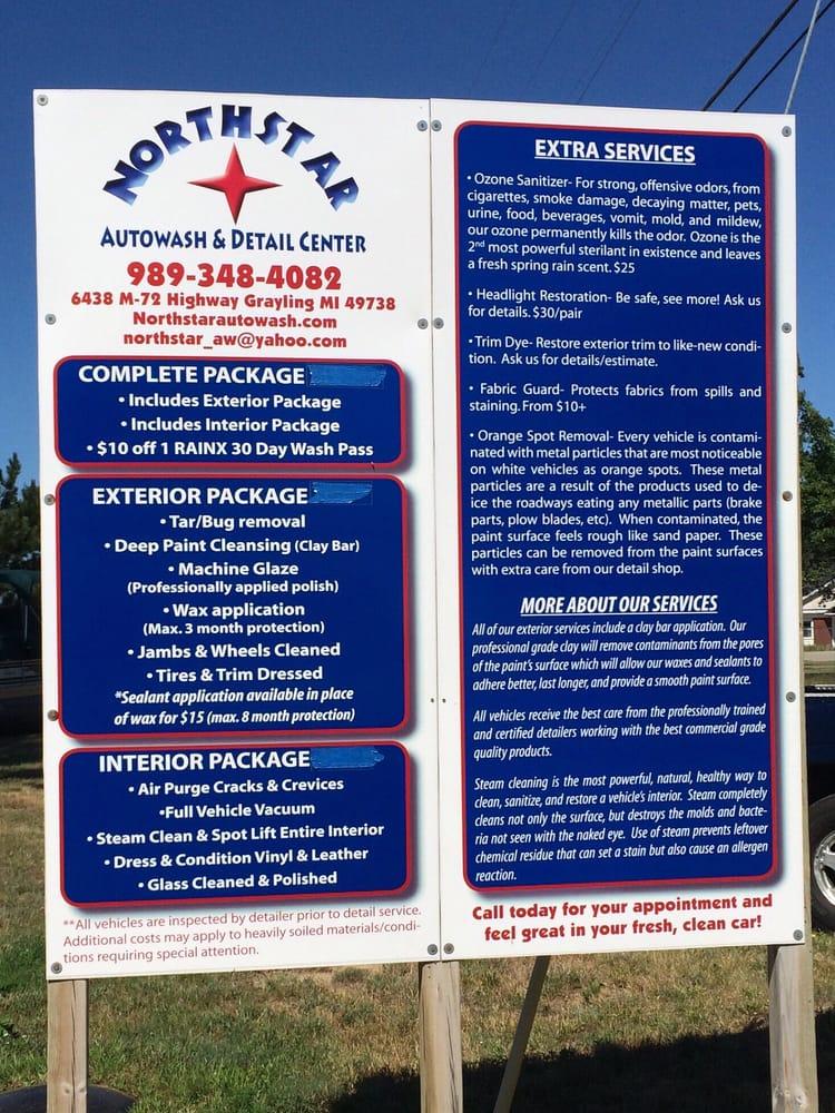 Northstar Autowash: 6438 W M 72 Hwy, Grayling, MI