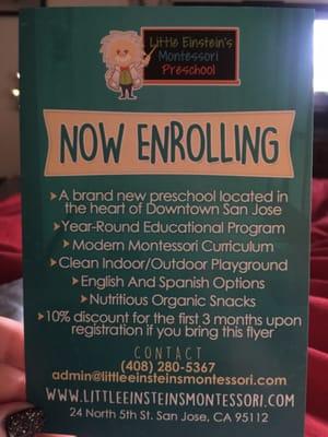 Little Einsteins Montessori Preschool 24 N 5th St San Jose CA