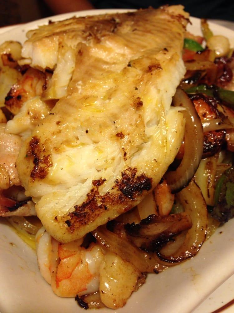 ... Cabos ... Tilapia, shrimp and scallops in a bacon lemon butter sauce