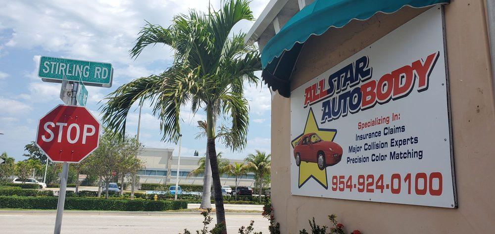 All Star Auto Body: 735 Stirling Rd, Dania, FL