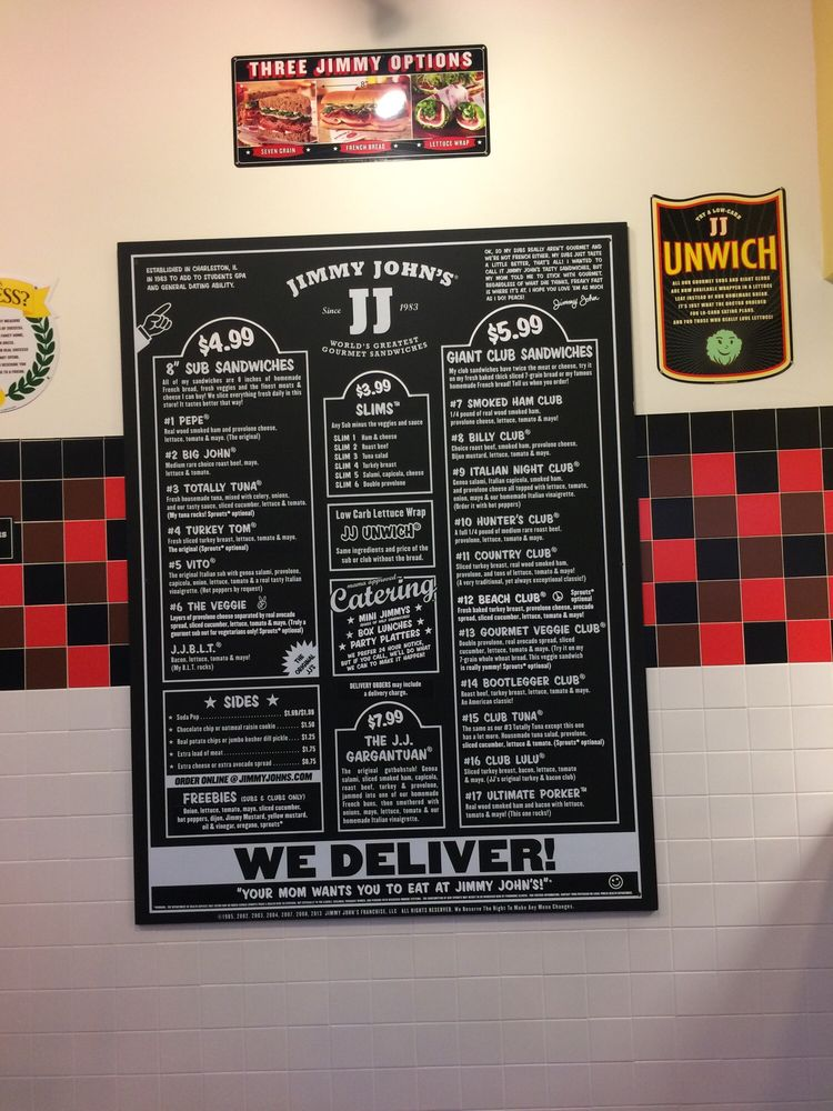 o Jimmy John S Order Form on wheat sub, menu printable, ham sandwich, frenchie sandwich, party subs, signs wall, gift card,