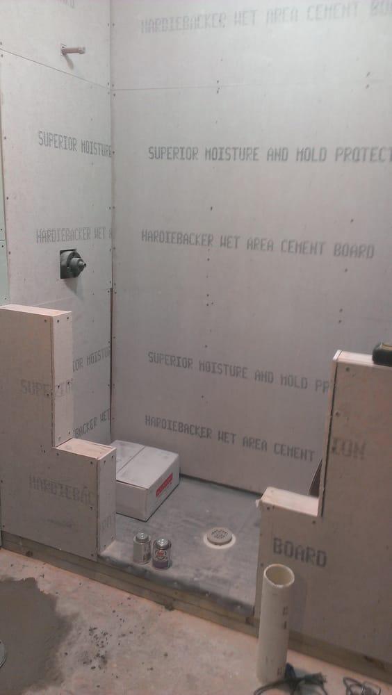 Bathroom Remodel Hardibacker Before Tile Yelp