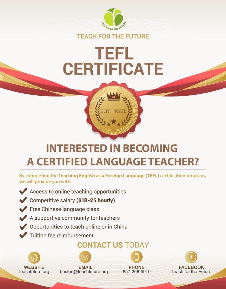 TEFL Certificate Program - Educational Services - 745 Atlantic Ave ...