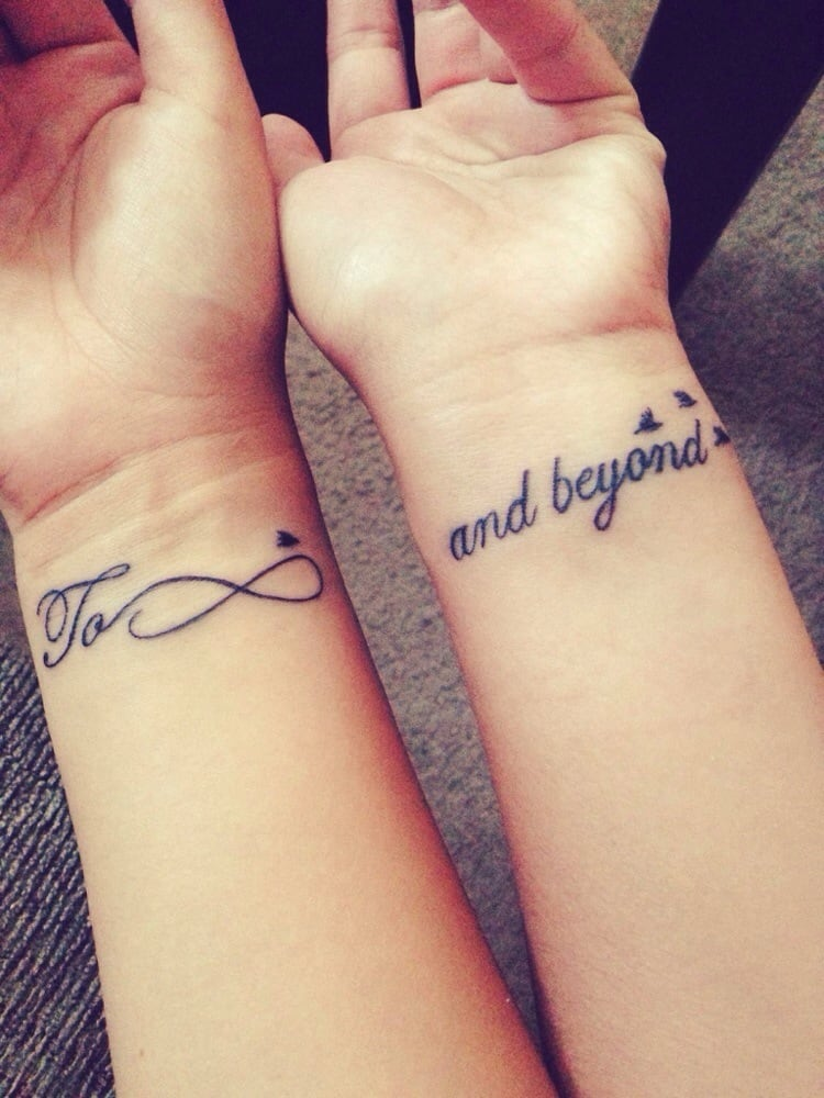 Sister tattoos (mine on the left and my baby sister\'s on the right ...