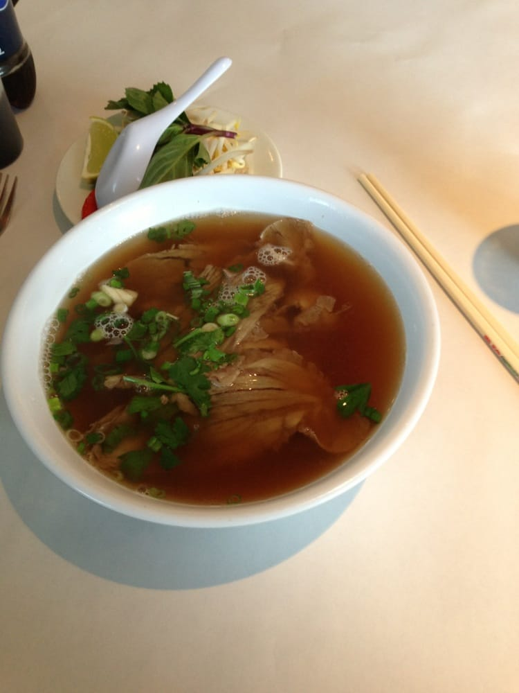 Photo of Lotus Grill - Farmington, CT, United States. Beef pho ( not bad)