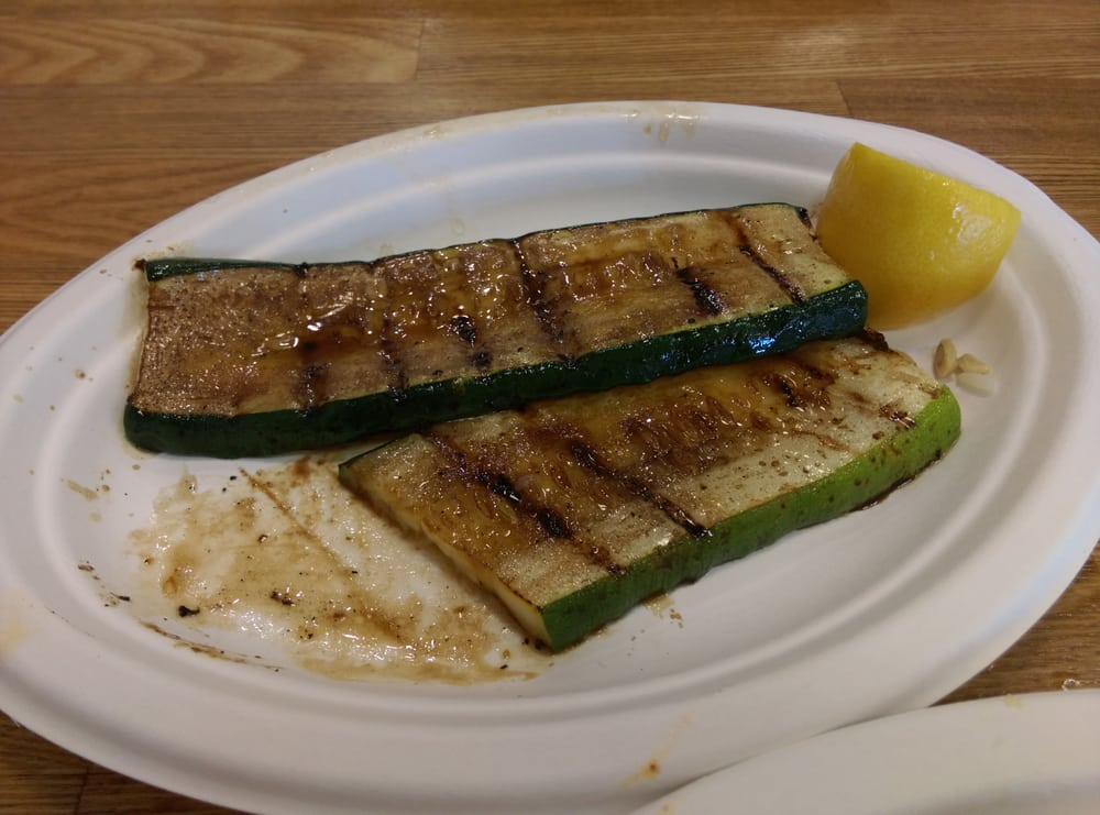 Added side order of grilled zuchini mmmmm yelp for Fish dish burbank
