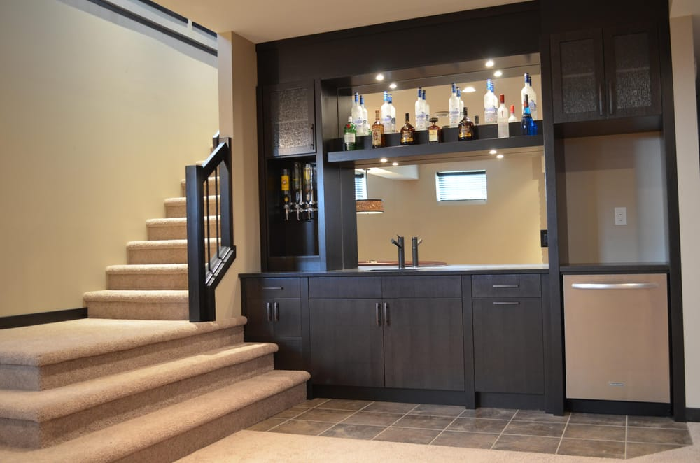This Basement Bar Was Custom Made To Suite An Unused Area At The