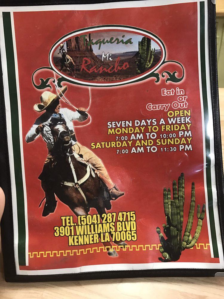 Taqueria Mi Rancho: 3901 Williams Blvd, Kenner, LA