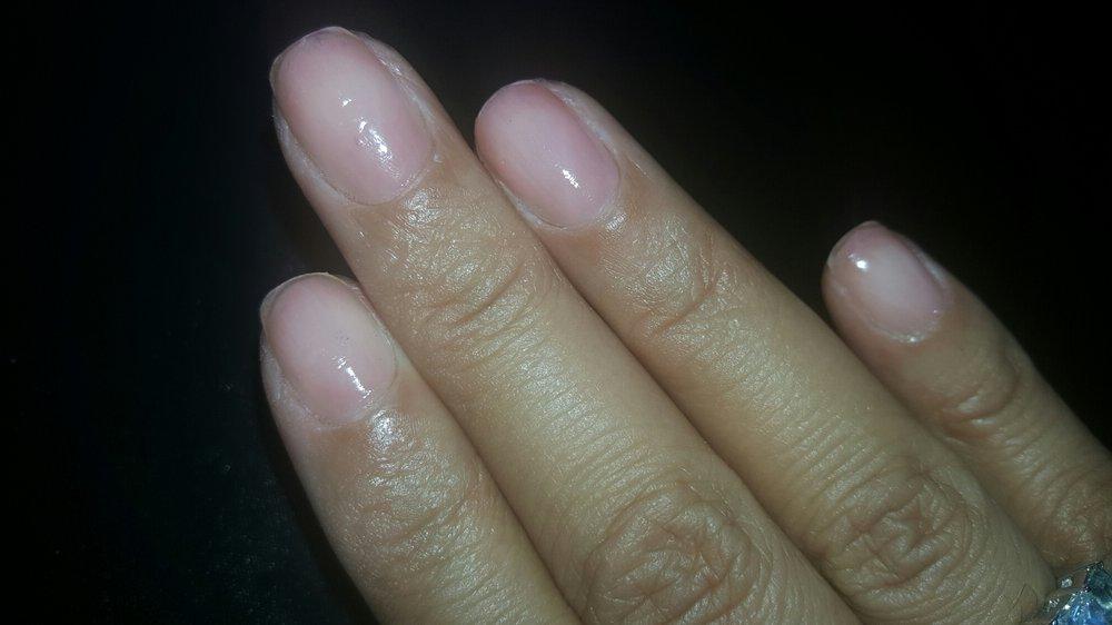 Plain manicure (no gel) with a light pink polish - Yelp