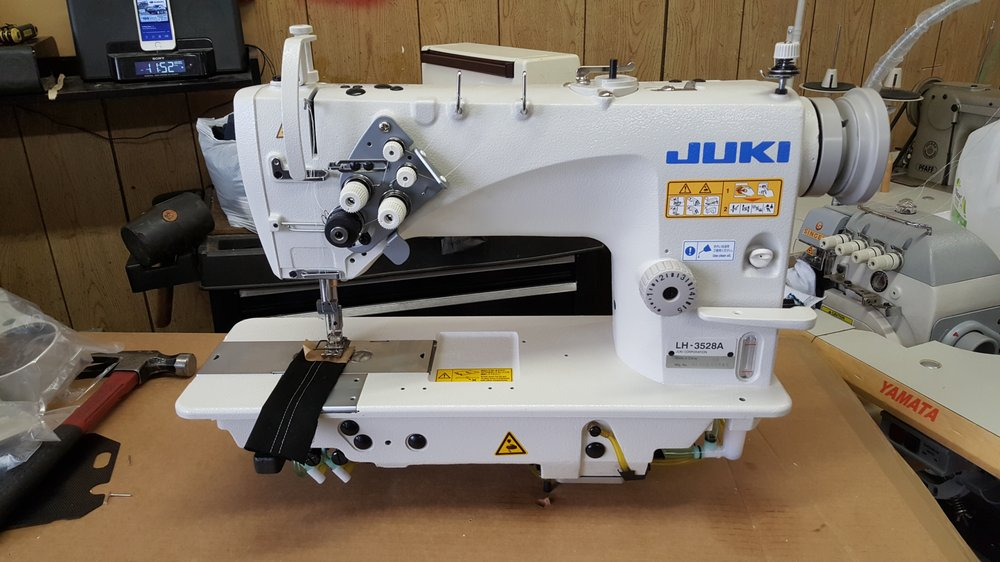 Juki LH40A Double Needle Needle Feed Yelp Beauteous Complete Sewing Machine Chicago