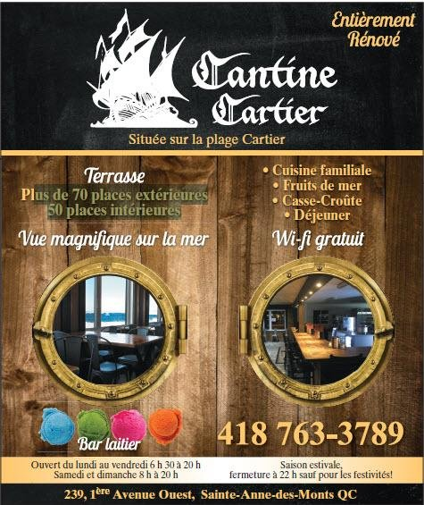 Cantine Cartier Canadian New 239 1re Avenue O Sainte