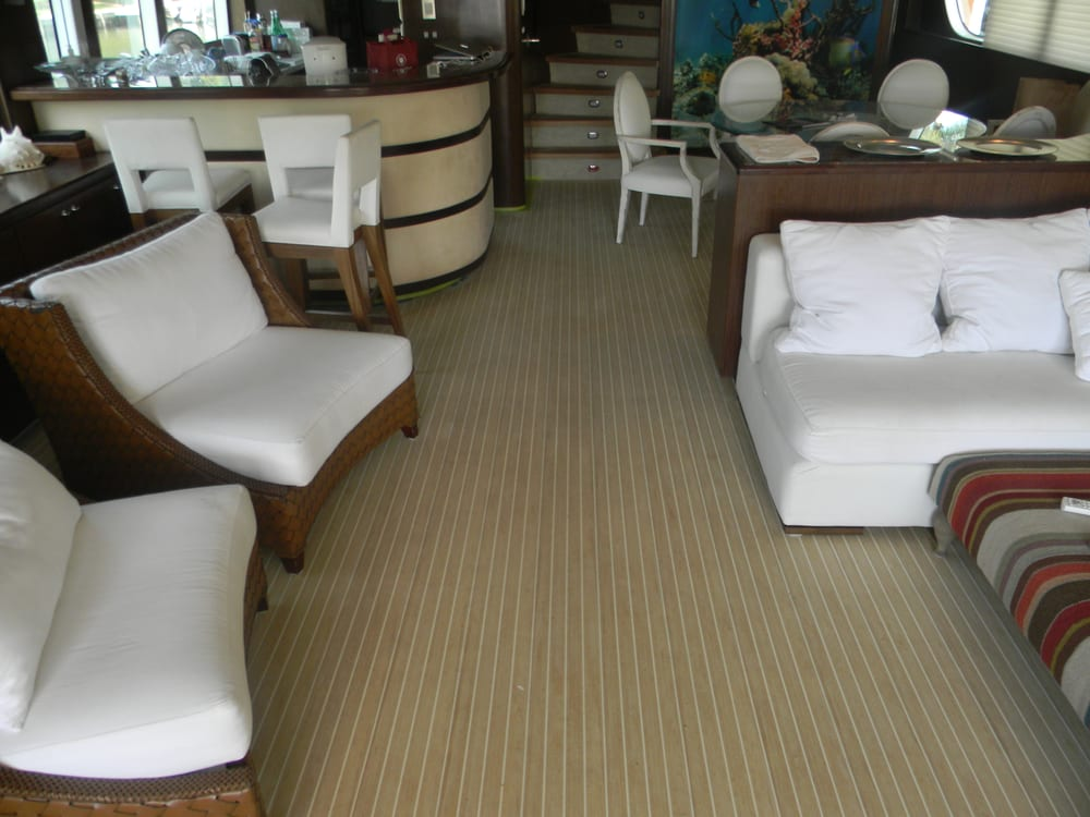 Photo Of Marine Carpentry Services   Hallandale Beach, FL, United States.  Yacht Decking