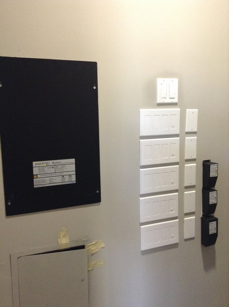 Lutron Homeworks Lighting Control System Panel and Wallbox Power ...