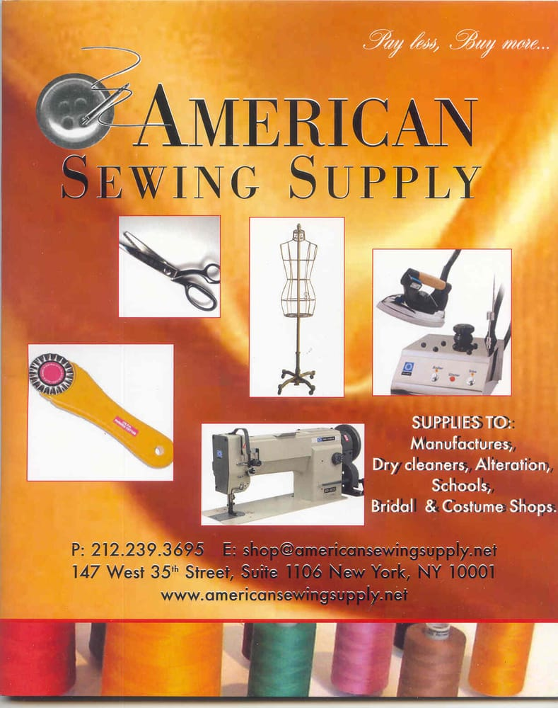 American Sewing Supply: 224 W 35th St, New York, NY