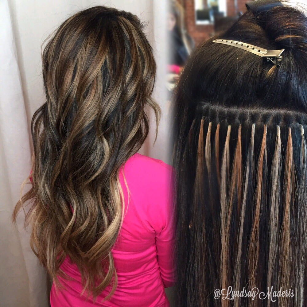 Balayage Hair Painting And Customized Keratin Fusion Hair Extensions