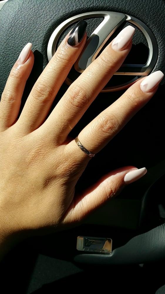 Coffin/Ballerina Nails. Clean! - Yelp