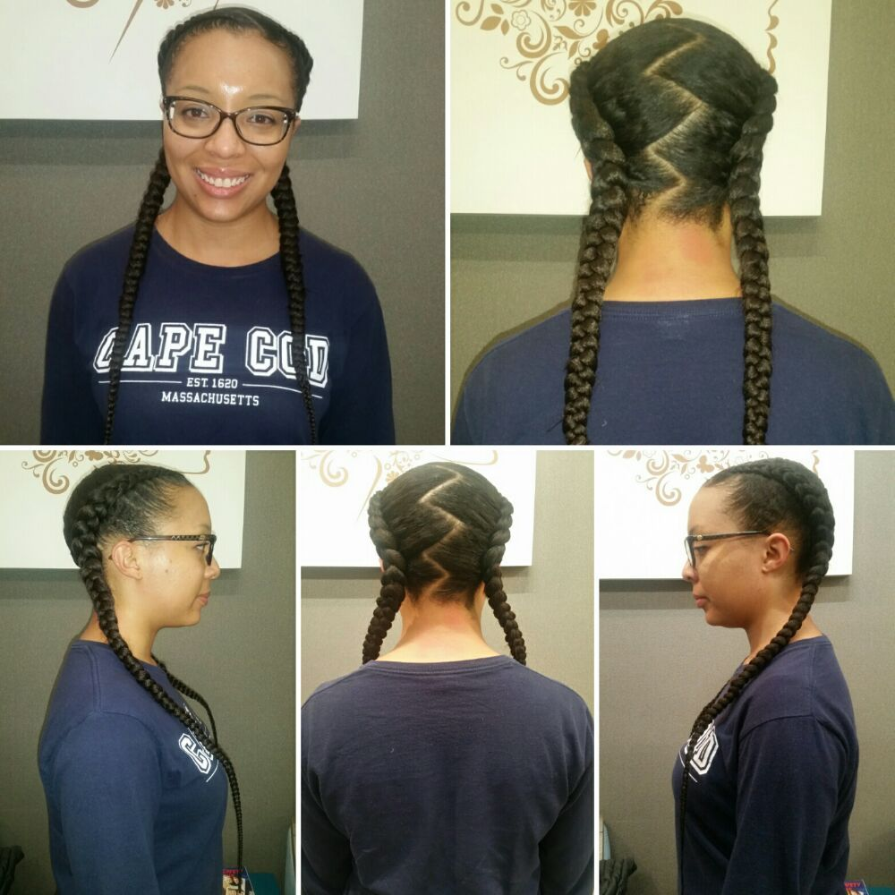 2 Feed In Cornrows W Hair Extensions Sleep With Silk Or Satin