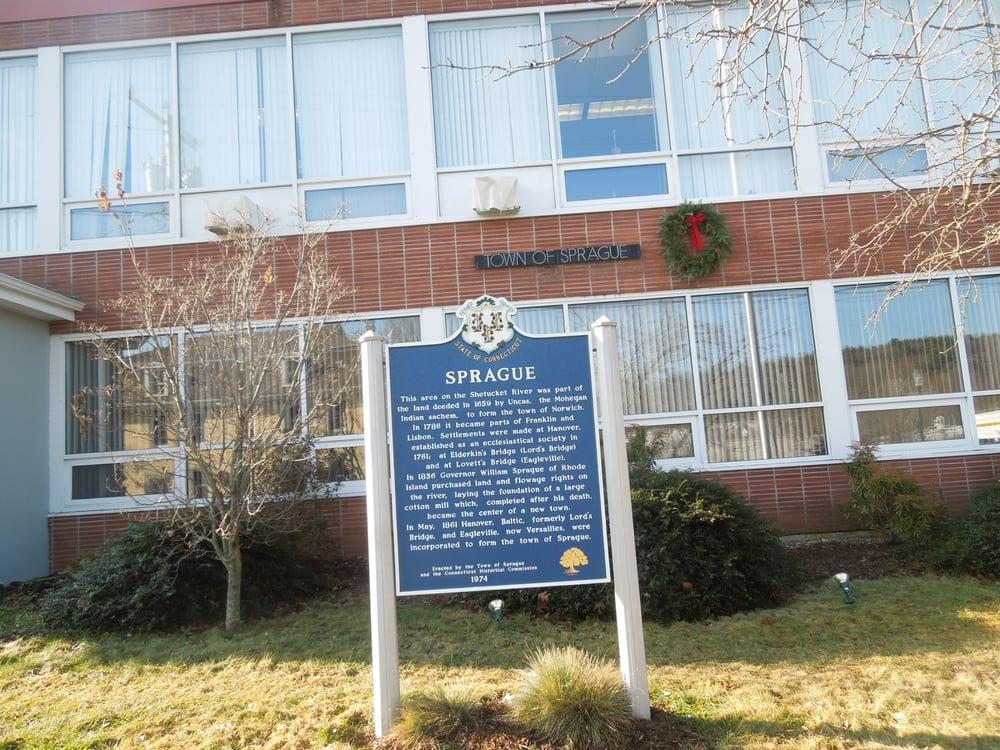 Sprague Historical Marker: 1 Main St, Sprague, CT