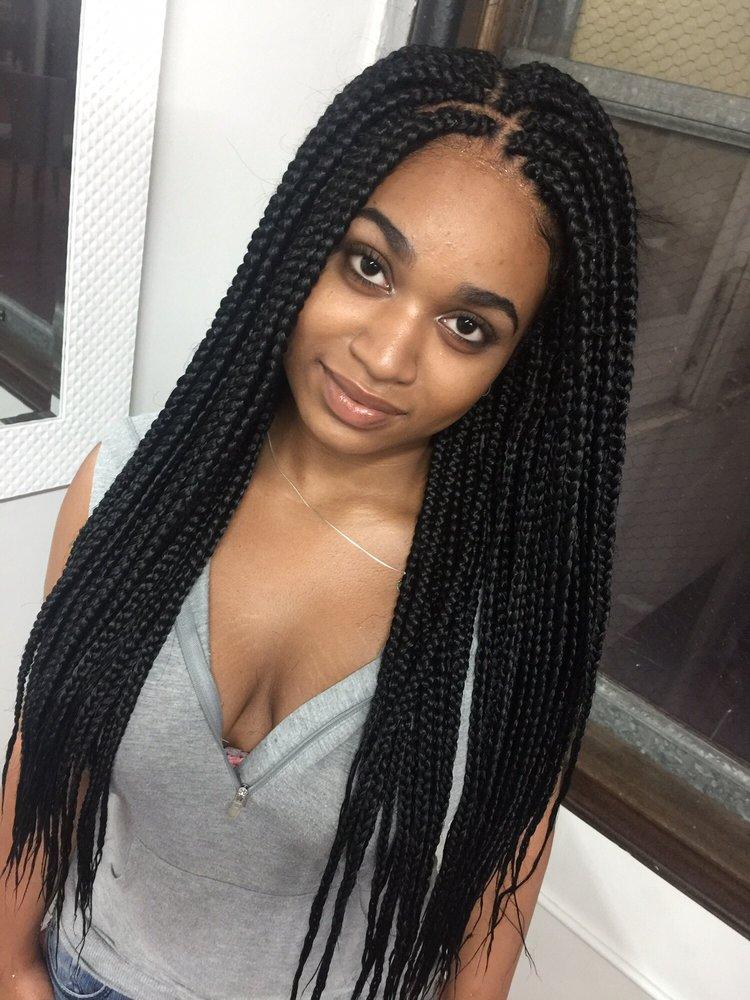 Medium Size box braids , Yelp