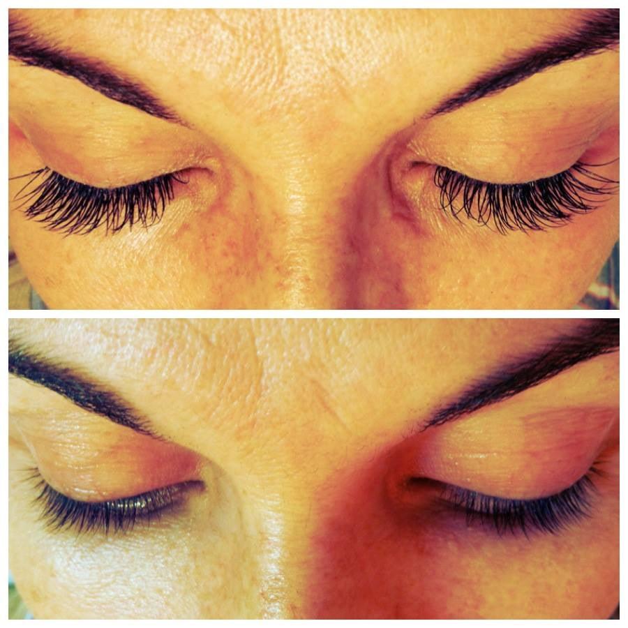 Before And After Full Set Of Xtreme Lashes Semi Permanent Eyelash