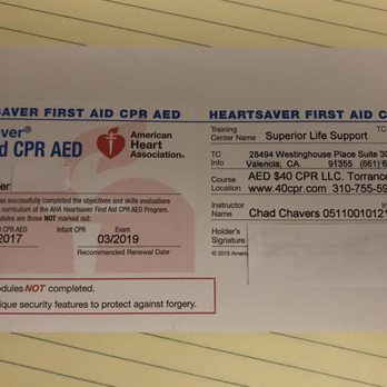 AED 40 CPR - 23133 Hawthorne Blvd, Torrance, CA - 2019 All