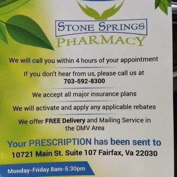 Stone Springs Pharmacy - 10721 Main St, Fairfax, VA - 2019