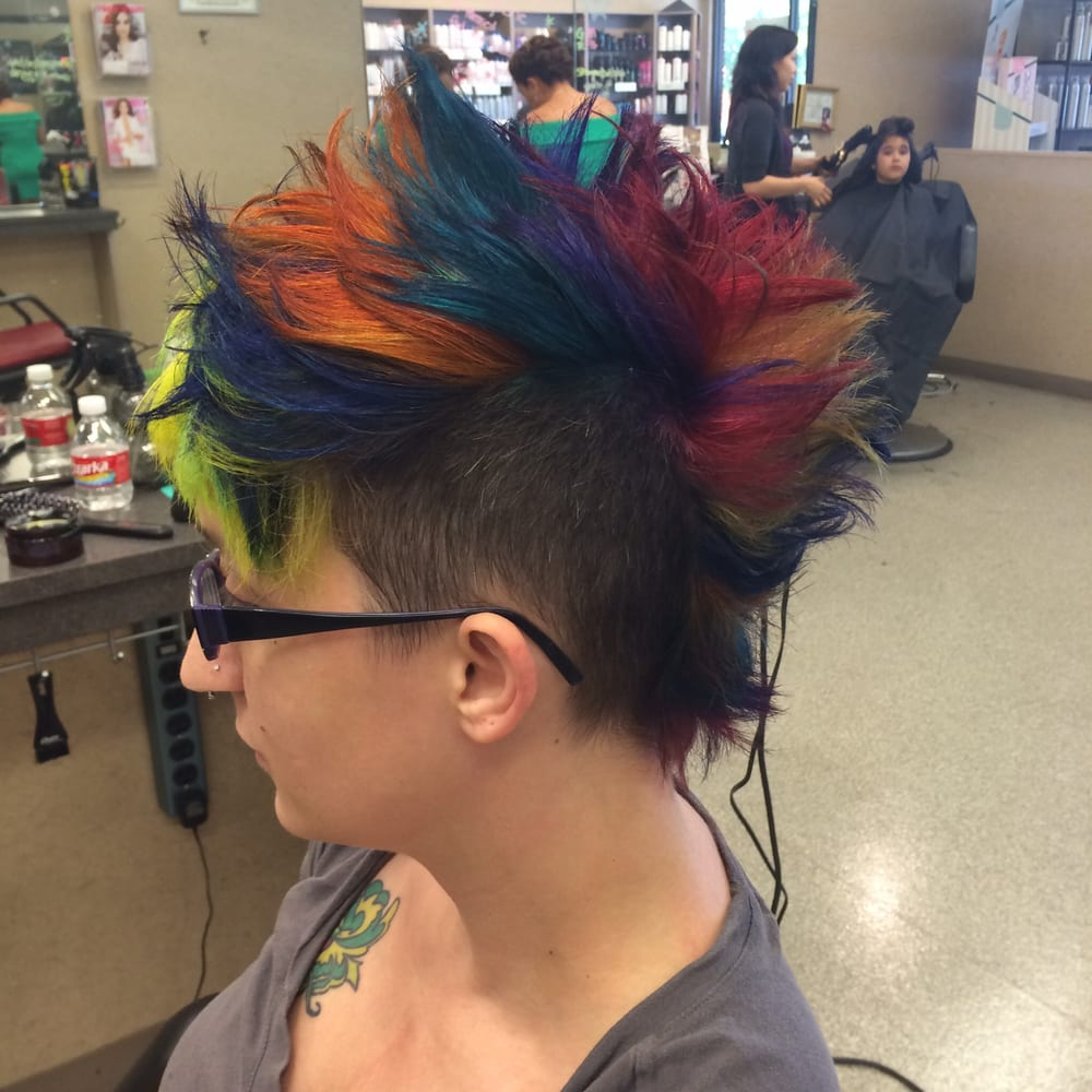 style america hair salon rainbow mohawk hair salon pravana hair color haircuts 7861