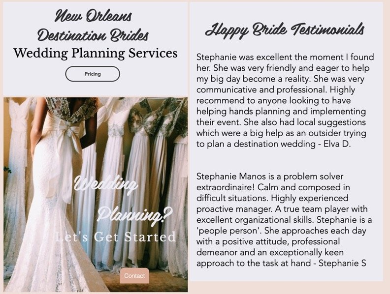 Stephanie Manos NOLA Wedding Planner