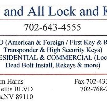 Photo Of Any And All Lock Key Las Vegas Nv United States